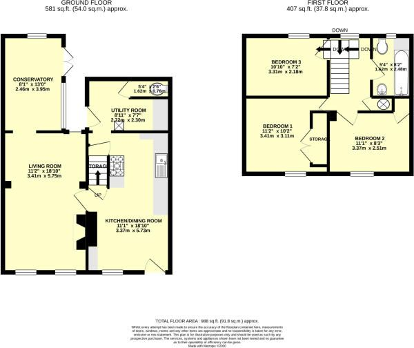 3 Bedroom Terraced for sale in South Molton, Cooks Cross